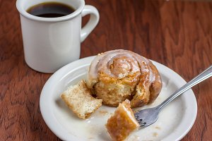 Coffee and Sweet Roll
