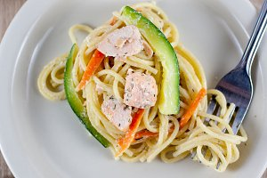 Lemon and Salmon Pasta