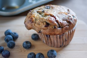Rustic Blueberry Muffin