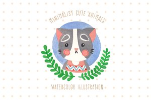 Minimalist Cute Animals Illustration