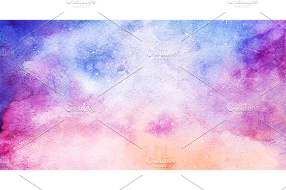 watercolor space galaxy background graphic patterns creative market