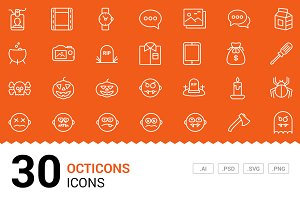 Octicons - Vector Line Icons
