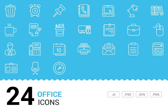 Office - Vector Line Icons