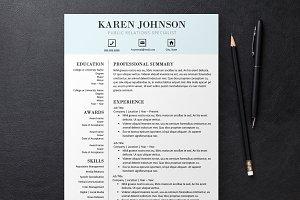 Pale Blue Resume 3 Templates