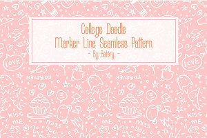 College Doodle | Seamless Pattern