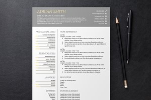 Gray Resume 3 Templates