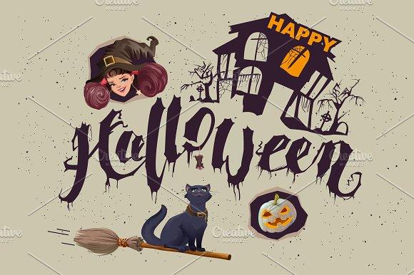Happy Halloween. Set of accessories - Illustrations