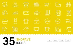 Shopave - Vector Line Icons