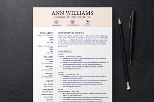Pale Pink Resume 3 Templates