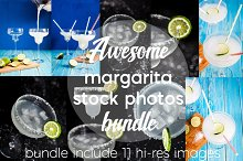 Margarita cocktail photos bundle