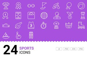 Sports - Vector Line Icons
