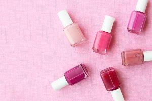 Sweet pink desk polish