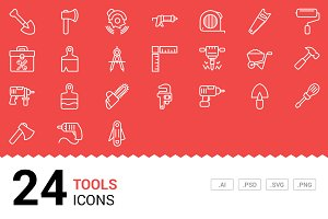 Tools / Equipment Vector Line Icons