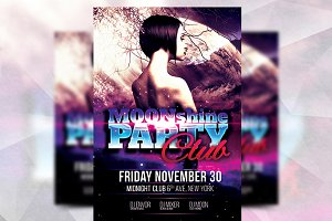 Moonshine Party - Flyer Template