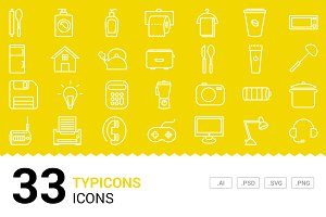 Typicons - Vector Line Icons
