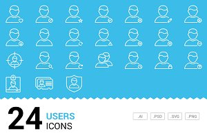 Users - Vector Line Icons