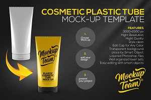 Plastic Cosmetic Tube Mock-up
