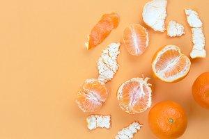 Orange on table