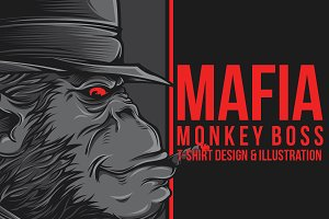 Mafia Monkey Boss Illustration