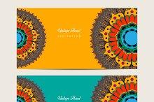 Mandala decorated banners