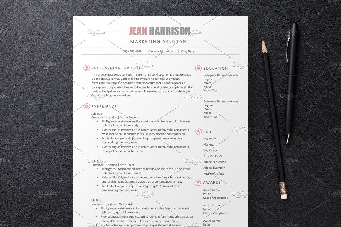 sleek resume 3 templates resume templates creative market