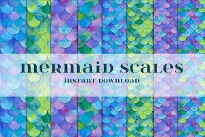 Mermaid Scales Seamless Pattern