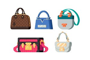 Fashion woman bags set