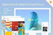 Oxo - Responsive Website Portfolio by  in Apps