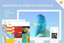 Oxo - Responsive Website Portfolio by  in Apps