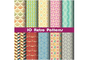 retro pattern set 4