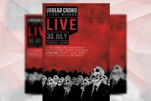 Undead Crowd - Flyer Template