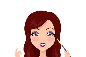 Girl Making Make up