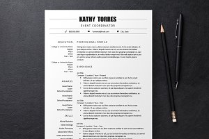 Black & White Resume 3 Templates