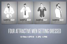 Four attractive men