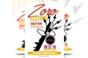 Zoro Festival - Flyer Template