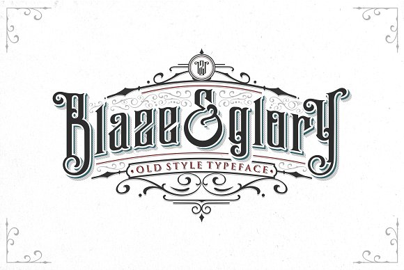 Blaze Glory Typeface Extras Blackletter Fonts Creative Market