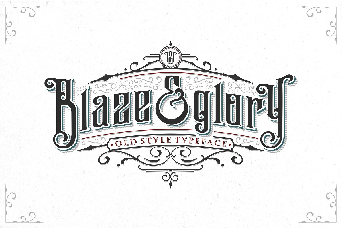 2b4e93e5a1772 Blaze & Glory Typeface + Extras ~ Blackletter Fonts ~ Creative Market