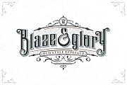 Blaze & Glory Typeface + Extras