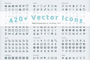 420+ Multipurpose Vector Icons