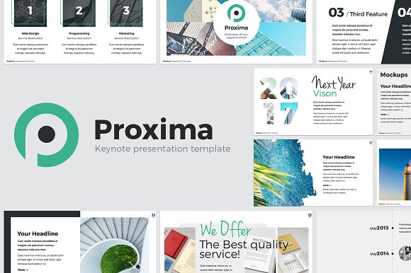 proxima modern keynote template presentation templates creative