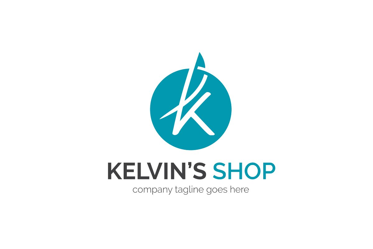 Kelvin Letter K logo ~ Logo Templates ~ Creative Market