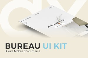 Bureau UI Kit Axure Mobile Ecommerce