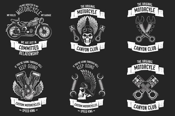 Motorcycle Logo Creator Logo Templates Creative Market