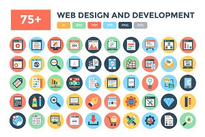 75+ Web Design and Development Icons