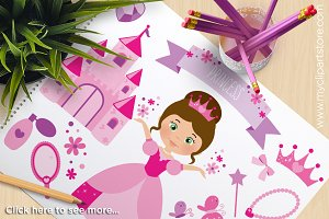 Flower Princess - Vector Clipart