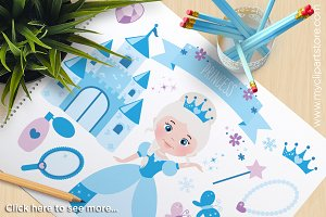 Snow Princess - Vector Clipart