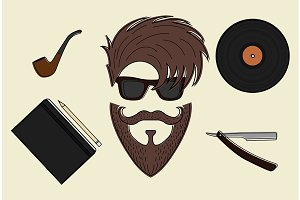 Hipster style stuff. Vector