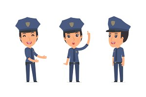 100 poses of character Constabulary