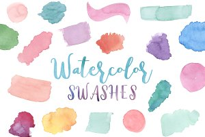 Watercolor Splash Clip Art
