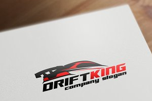 Drift King Logo Template